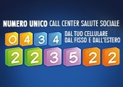 Numero unico call center salute e sociale